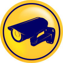 image displays cctv camera yellow icon