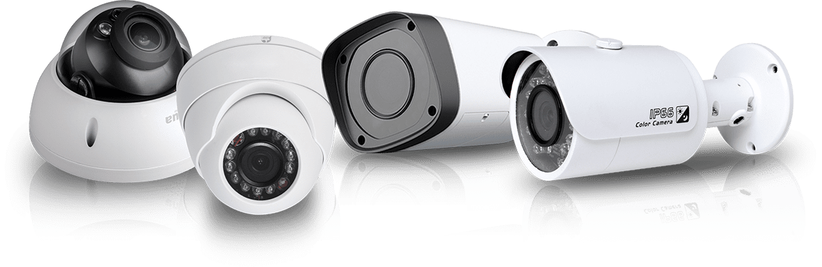 image displays 4 different cctv cameras