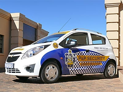image displays p&p security reaction vehicle at offices