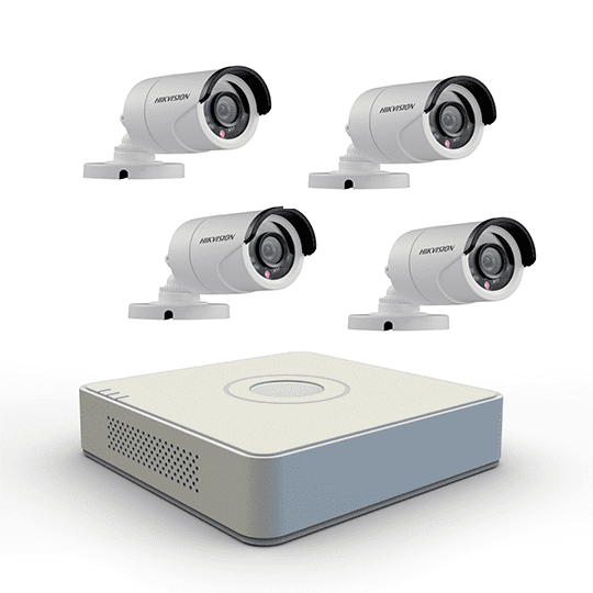 image displays pvr and 4 outdoor bullet cameras
