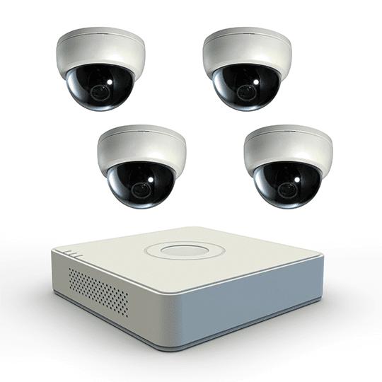 image displays pvr and 4 indoor cameras