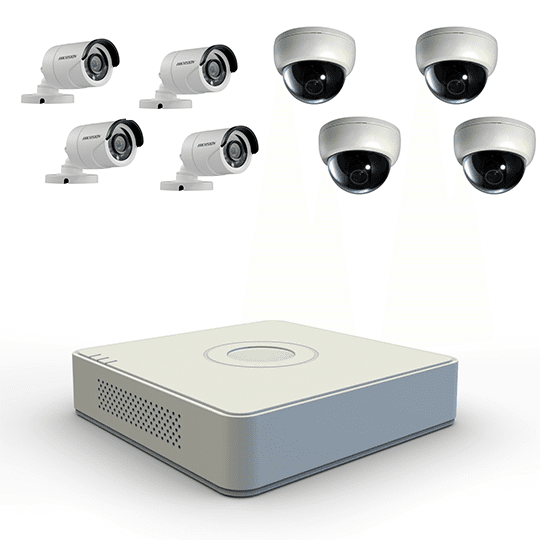 image displays pvr and 4 indoor and 4 outdoor cameras