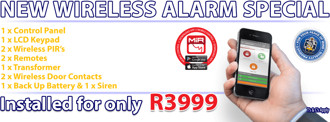 image displays new wireless alarm special with mobile phone