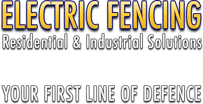 image displays electric fencing residential & industrial solutions text