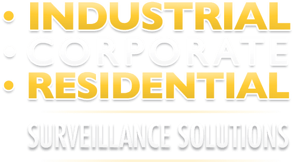image displays industrial corporate residential surveillance solutions text
