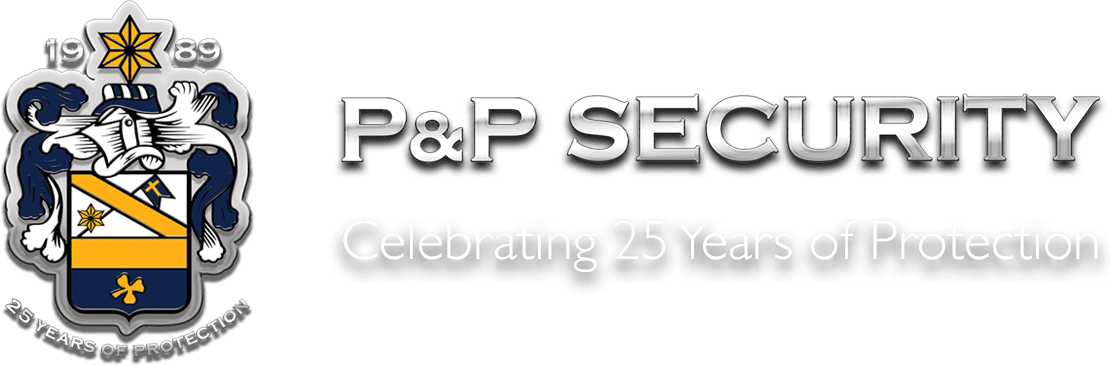 image displays P&P security logo celebrating 25 years of protection